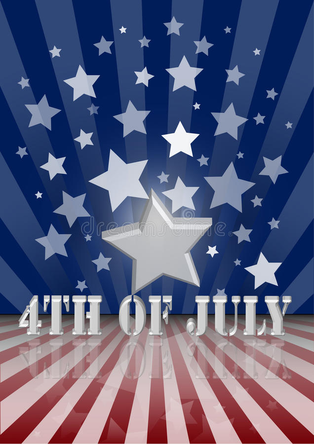4th of July. The fourth of July independence day royalty free illustration
