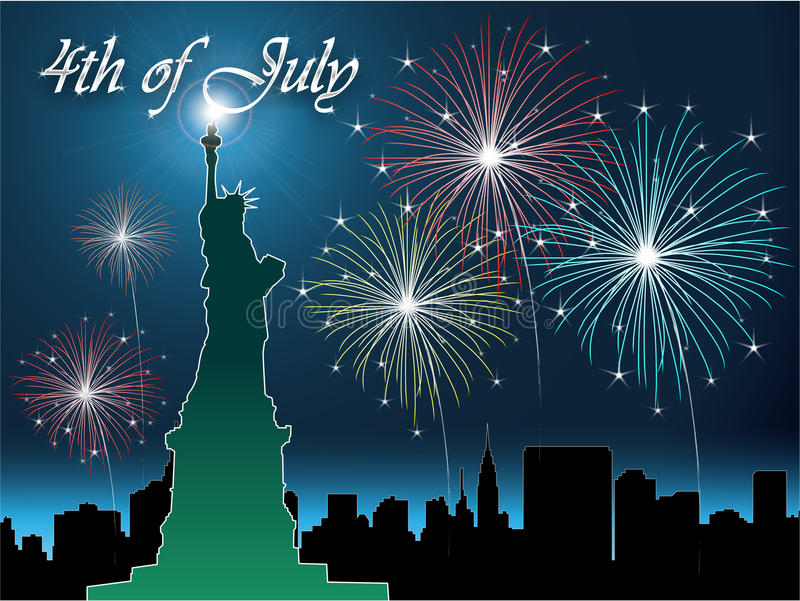 4th of July. The fourth of july independence day stock illustration