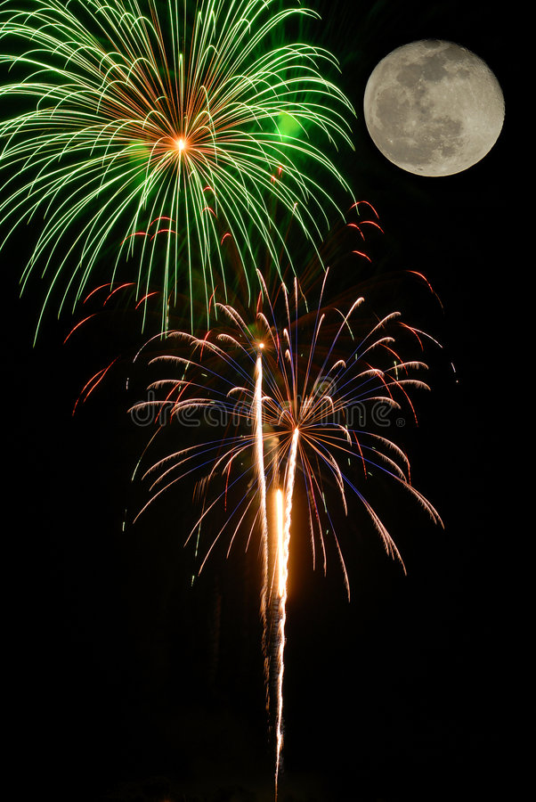 4th of July. This was taken at a local Forth of July fireworks celebration royalty free stock photos