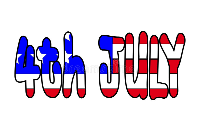 4th July 2. This is the USA flag in the shape of the 4th July vector illustration
