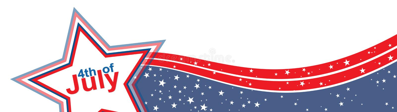 4th of july. American independence day. Vector illustration stock illustration