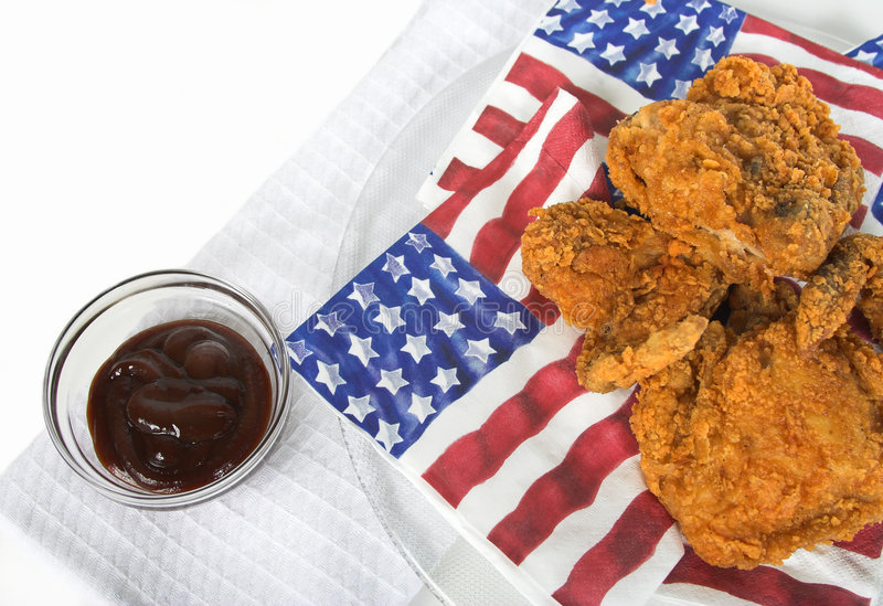 4th of July. Picnic with chicken royalty free stock photos