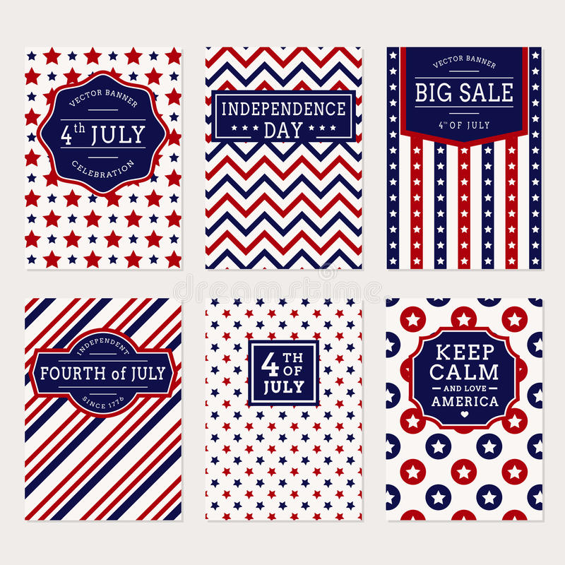 Free 4th July Banner Set Stock Images - 72242534