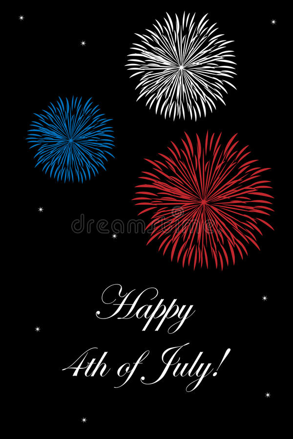 4th of July card stock illustration