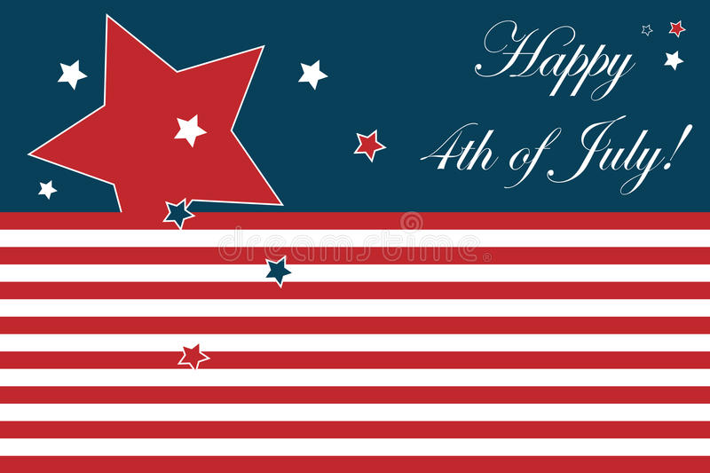 4th of July card. Illustration of a 4th of july card for your design. EPS file available royalty free illustration