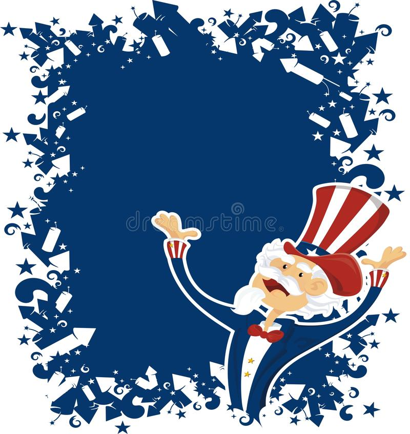 Download 4th July Celebration With Uncle Sam Stock Vector - Illustration: 10631244