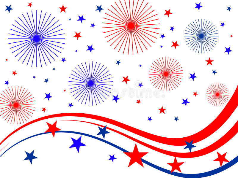 Download 4th july fireworks stock vector. Image of firework, election - 14922863