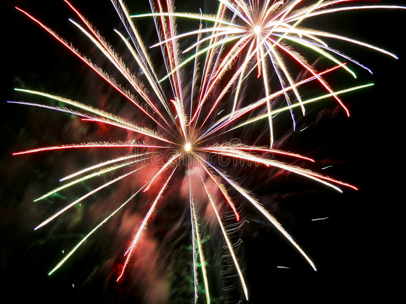 4th of July Fireworks royalty free stock image