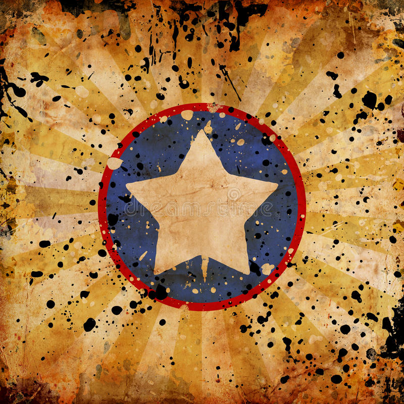 4th July grunge background. With stains royalty free illustration