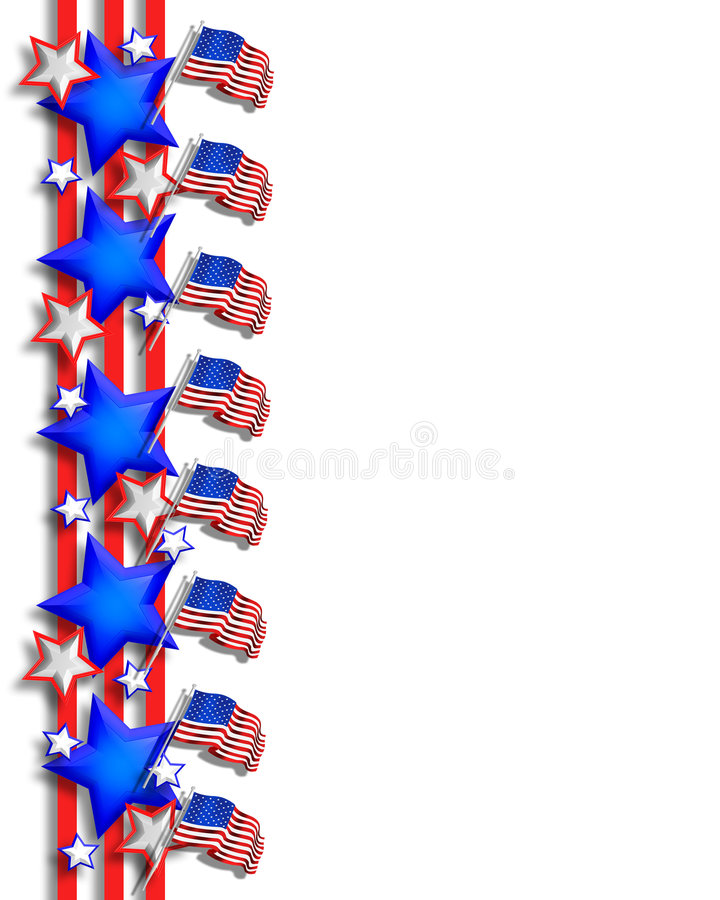 4th of July Patriotic Background stock illustration