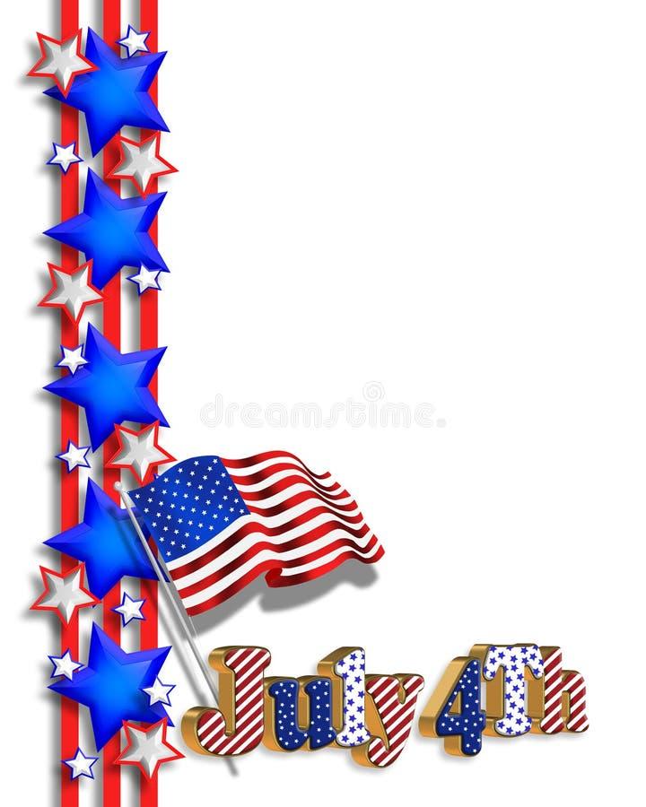 4th of July patriotic border vector illustration