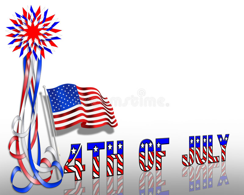 4th of July Patriotic Border Stars and Stripes royalty free illustration
