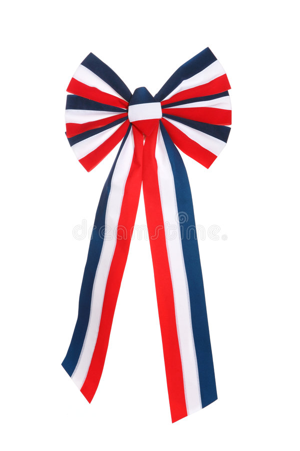 4th of July Ribbon. A 4th of July ribbon isolated over white stock photos