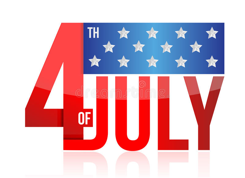 4th of july sign vector illustration