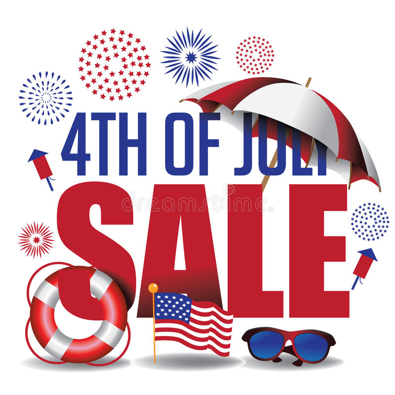 Free 4th Of July Sale Marketing Header Royalty Free Stock Photography - 55479707