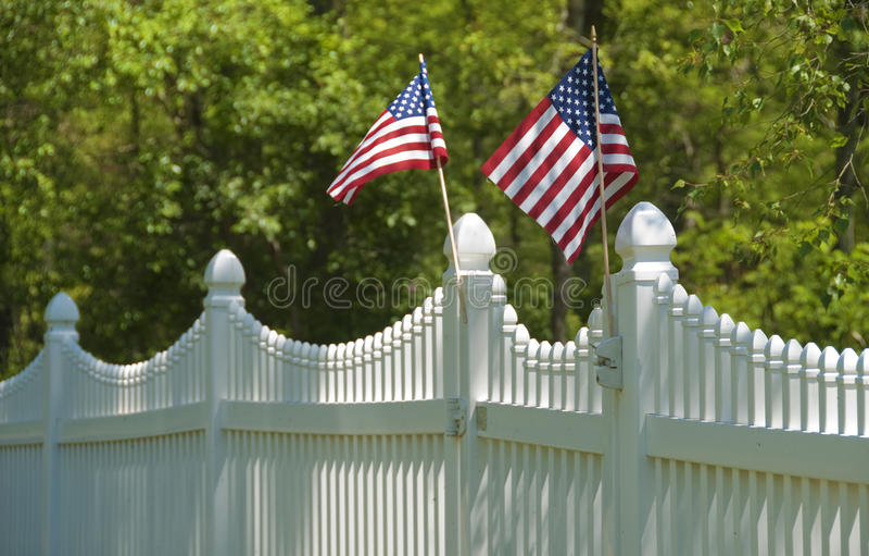 4th white för staketjuli postering royaltyfri fotografi