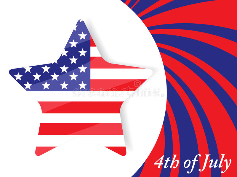 4to del Día de la Independencia de julio ilustración del vector