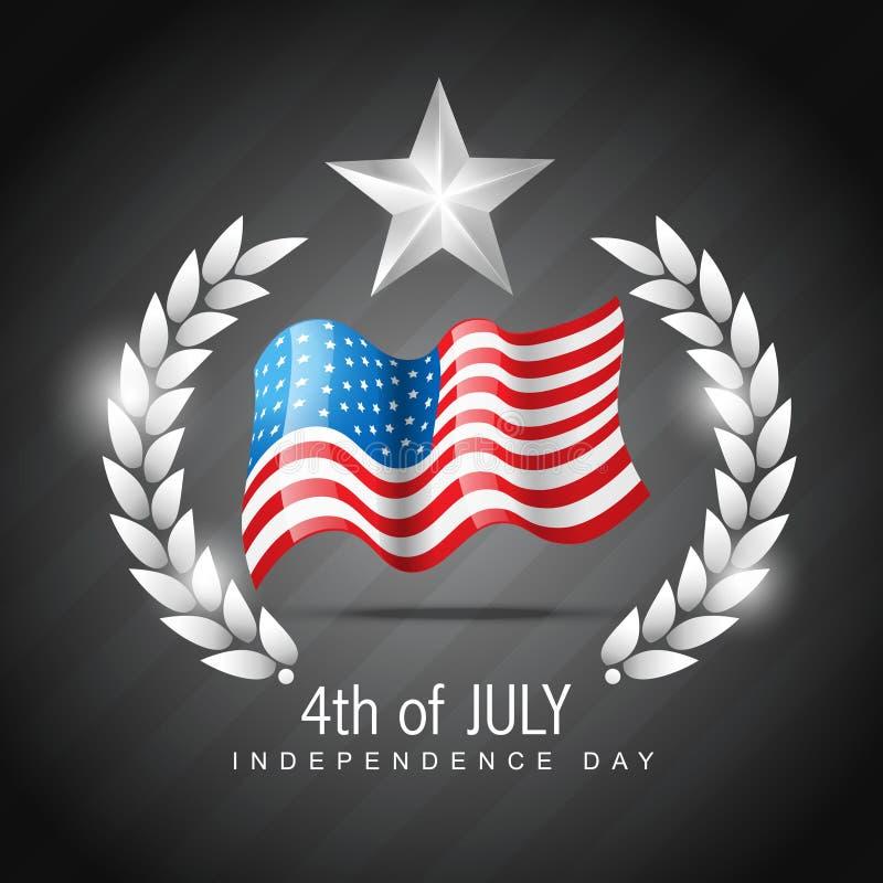 4to del Día de la Independencia juy ilustración del vector