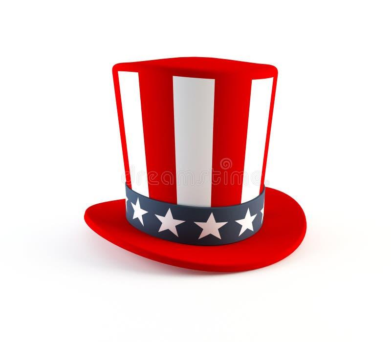 4to del sombrero de julio imagen de archivo libre de regalías
