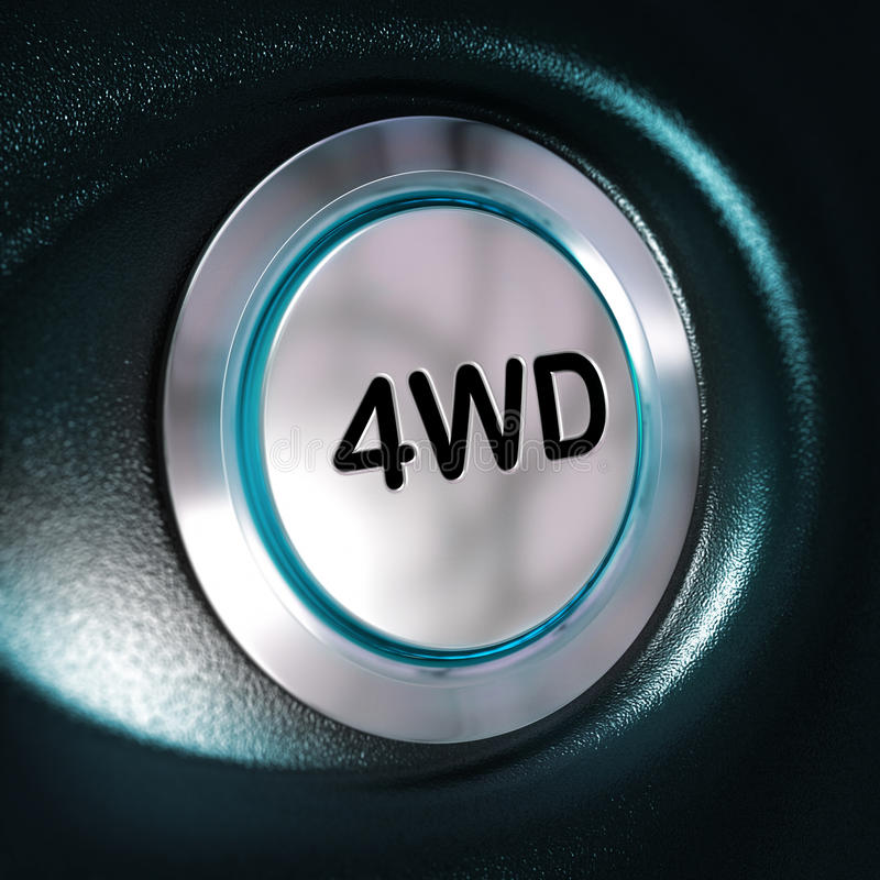 4WD按钮,四Weel驱动器, 4x4切换 皇族释放例证