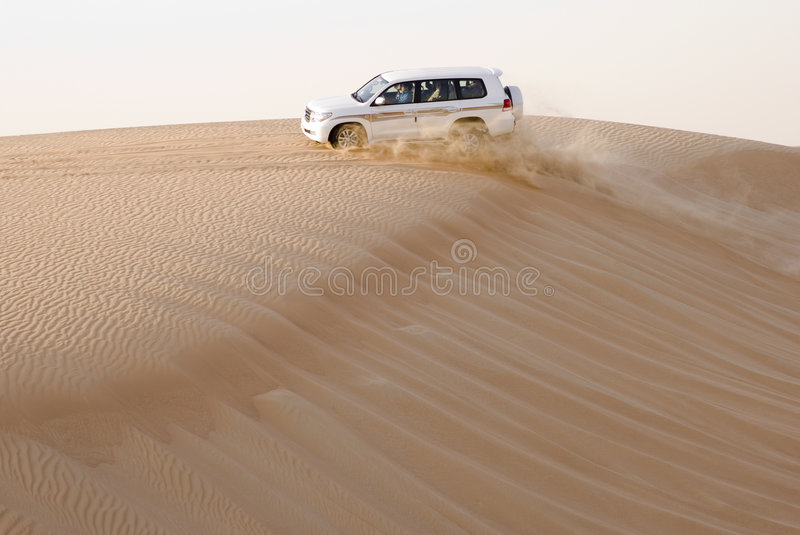 4wd desert safari stock photo