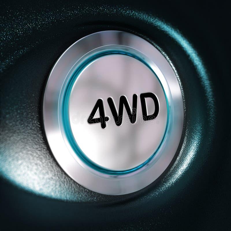 4WD knäppas, drev för fyra Weel, 4x4 kopplar royaltyfri illustrationer