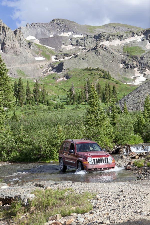4WD montanhas rochosas Colorado fotografia de stock