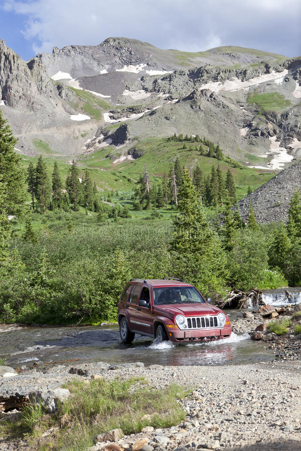 4WD Rocky Mountains Colorado stock photography