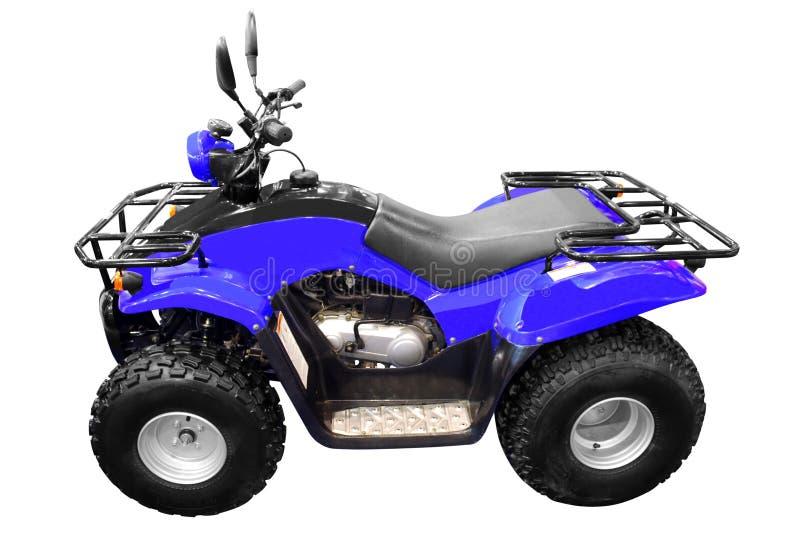 4x4 atv roweru błękit odizolowywający kwadrat zdjęcie stock
