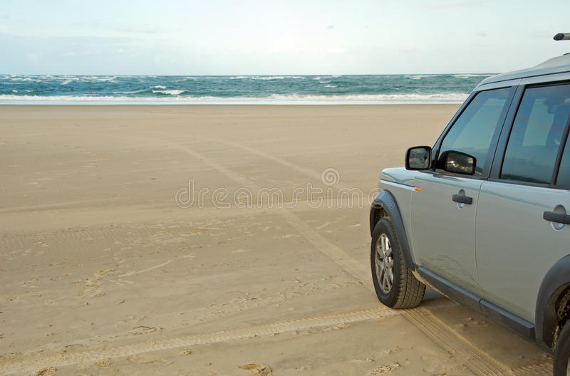 4x4 at the beach royalty free stock photo