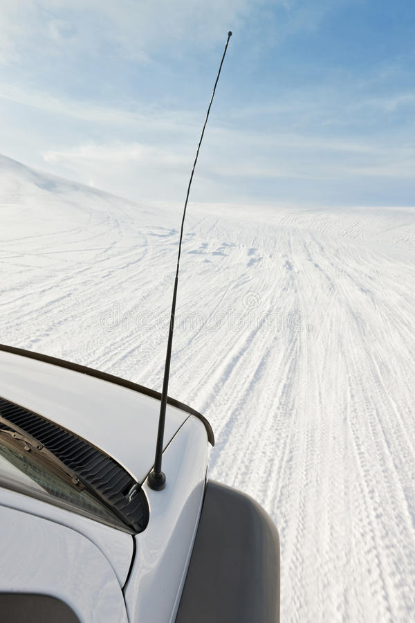 4x4 Driving On A Glacier Stock Images
