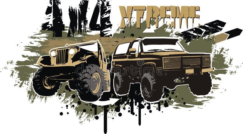 4x4 extreme royalty free illustration