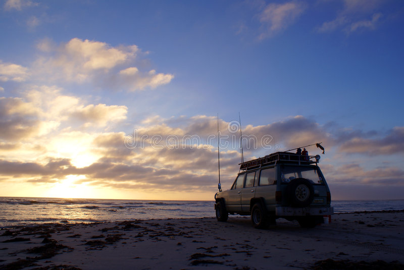 Download 4x4 Fishing at Sunset stock image. Image of clouds, hobby - 9202671