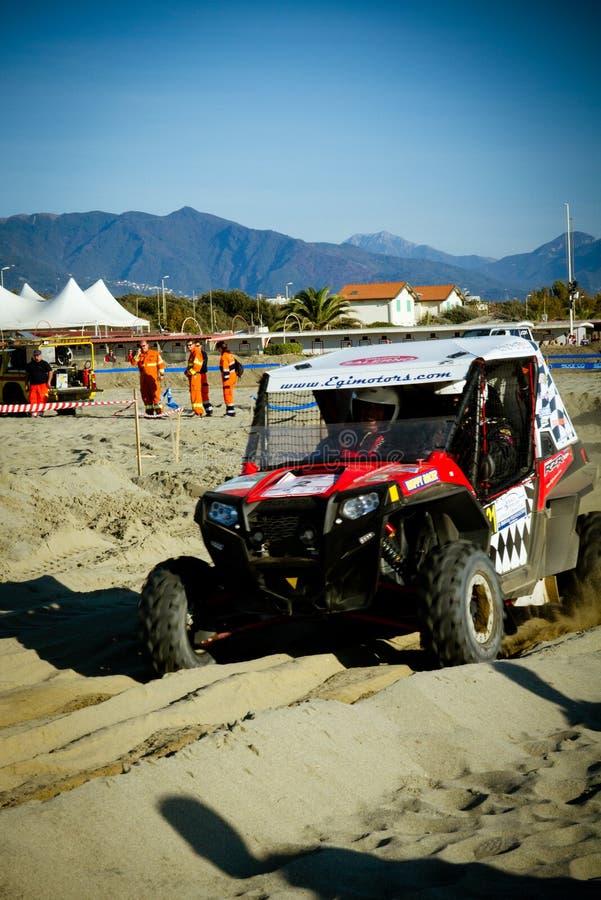 4x4 racing on the beach stock photos
