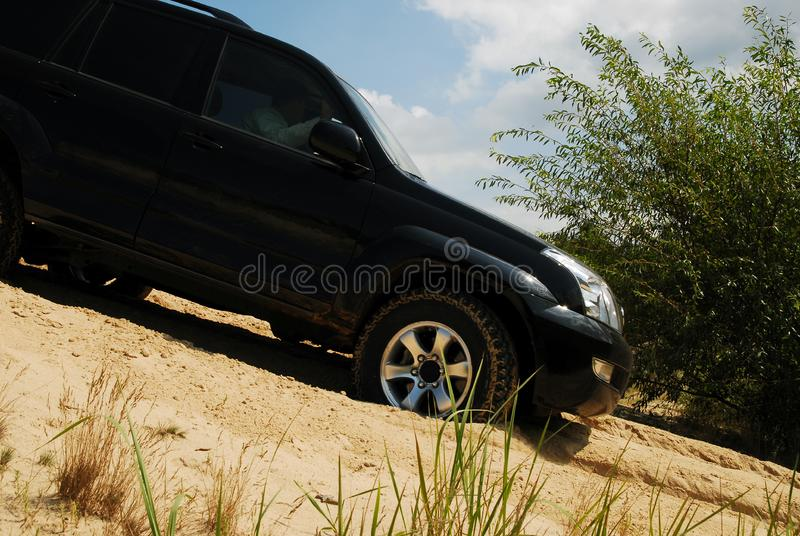 4x4 on sand stock images