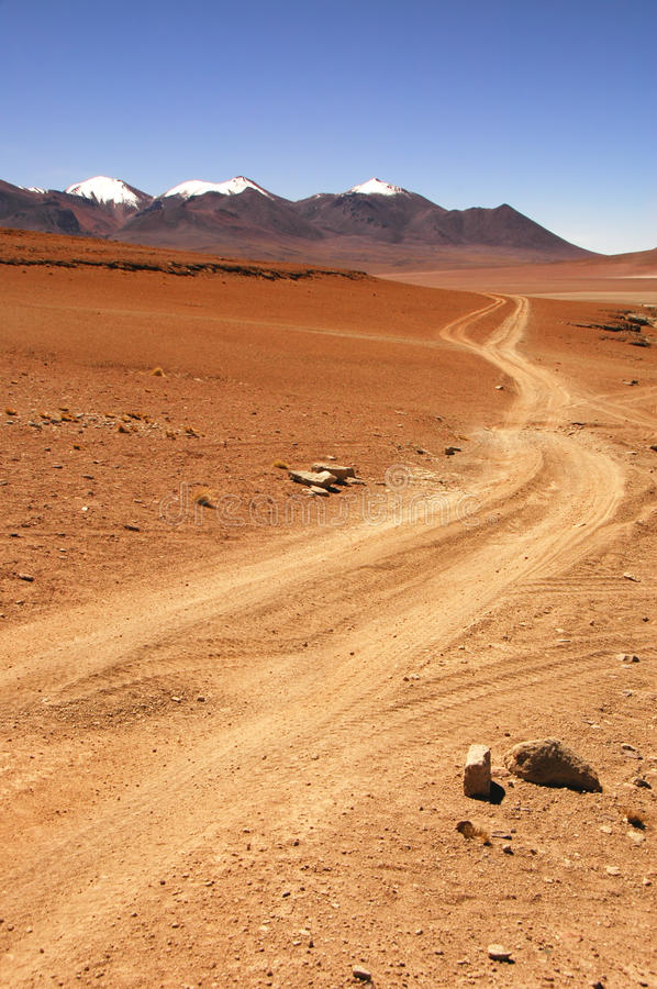 Free 4X4 Trail In The Desert Stock Image - 14425811