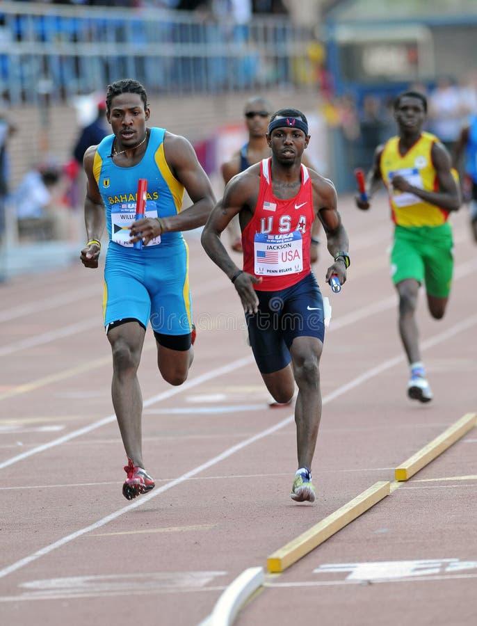 4x400 rozwoju mens olimpijski luzowanie zdjęcie royalty free