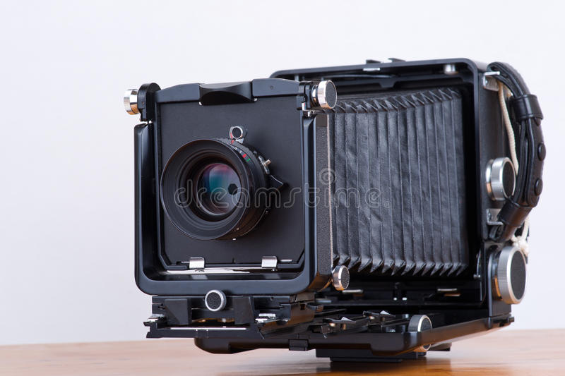 4x5 big format camera stock photography