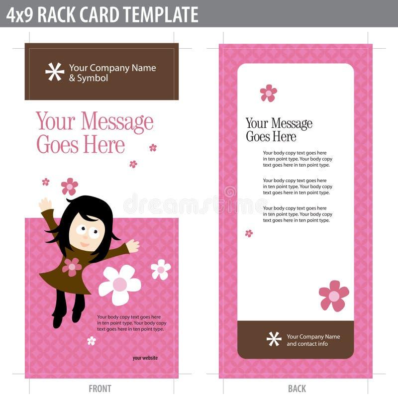4x9 πρότυπο ραφιών καρτών φυλλάδιων διανυσματική απεικόνιση