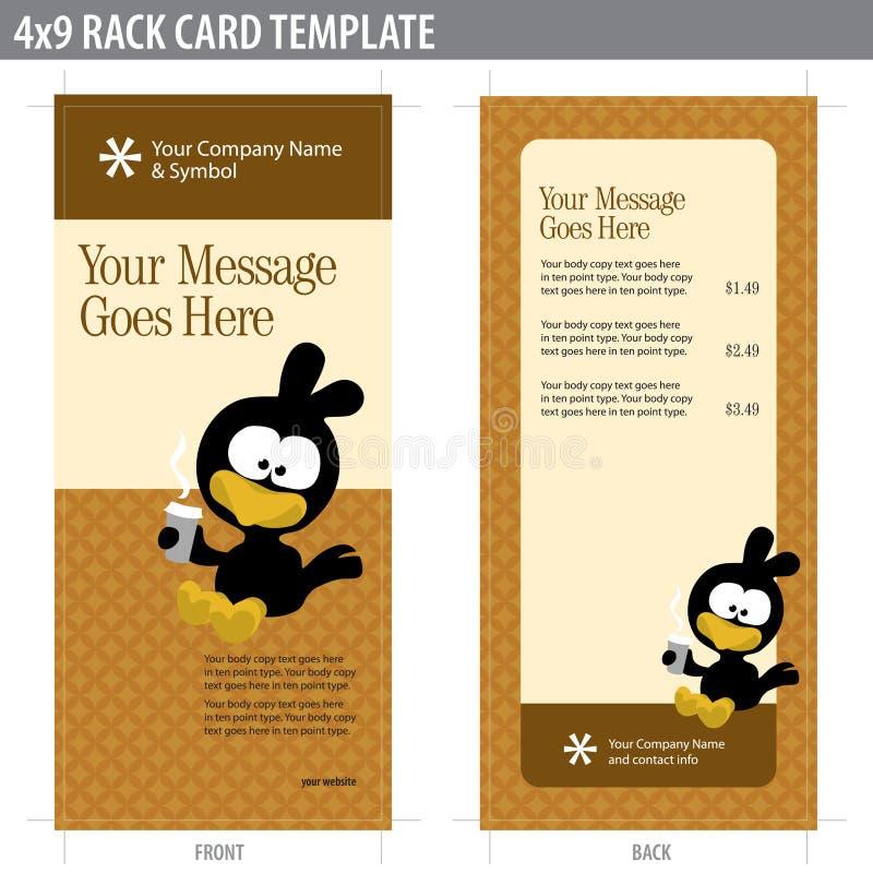 4x9 πρότυπο ραφιών καρτών απεικόνιση αποθεμάτων