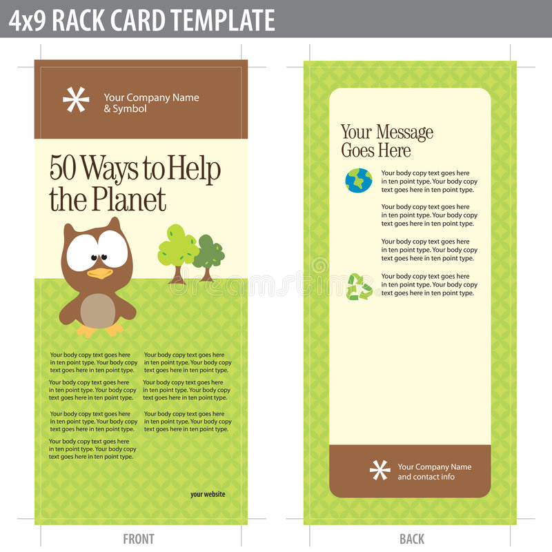 4x9 broszurki karcianego stojaka szablon ilustracja wektor