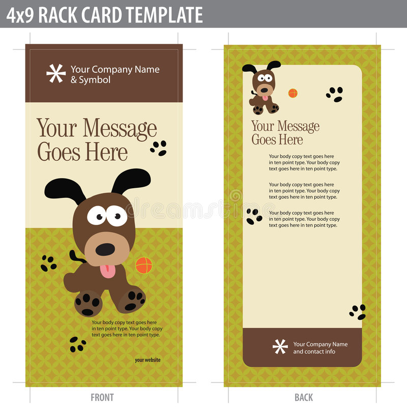 X Rack Card Brochure Template Stock Vector  Illustration Of Front