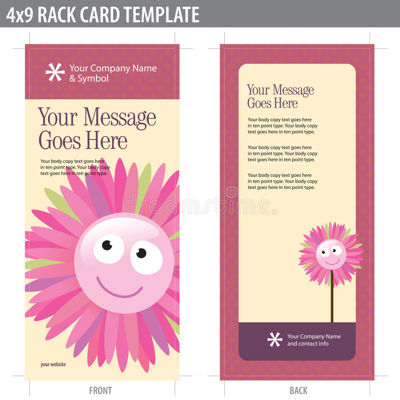 Download 4x9 Rack Card Brochure Template Stock Images - Image: 8937024