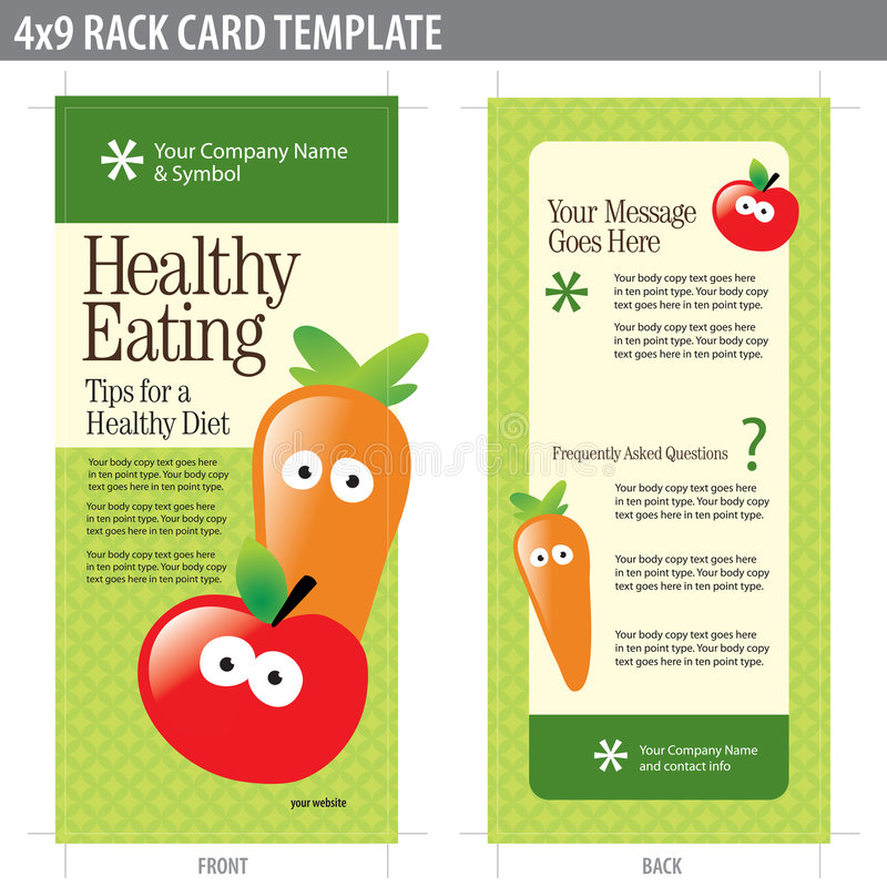 X Rack Card Brochure Template Stock Vector Illustration Of - Nutrition brochure template