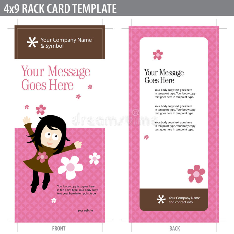 Download 4x9 Rack Card Brochure Template Stock Photography - Image: 8937032