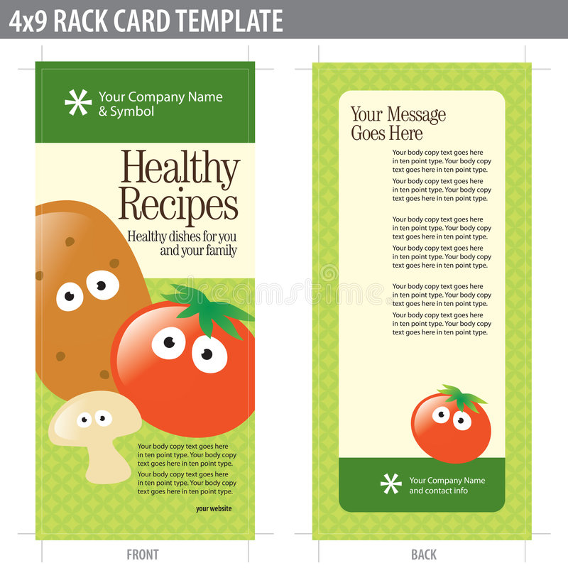 X Rack Card Brochure Template Stock Vector Illustration Of Flyer - 4x9 rack card template