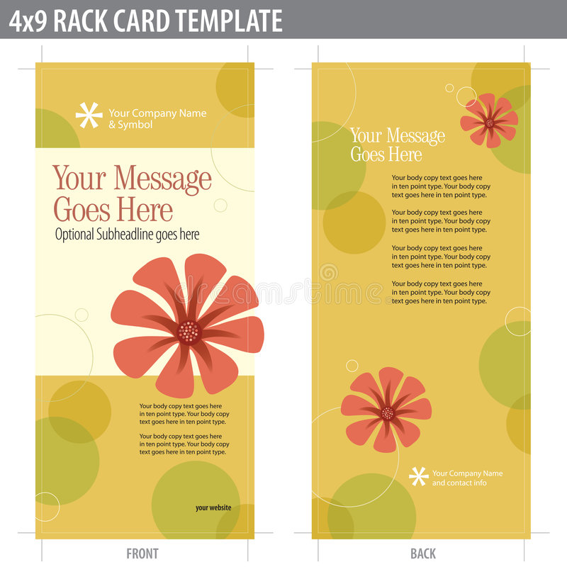 X Rack Card Brochure Template Stock Vector Illustration Of - 4x9 rack card template