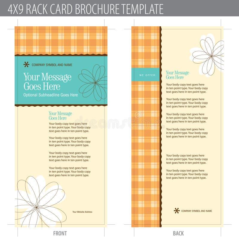 Download 4x9 Rack Card Brochure Template Stock Vector - Image: 9997543