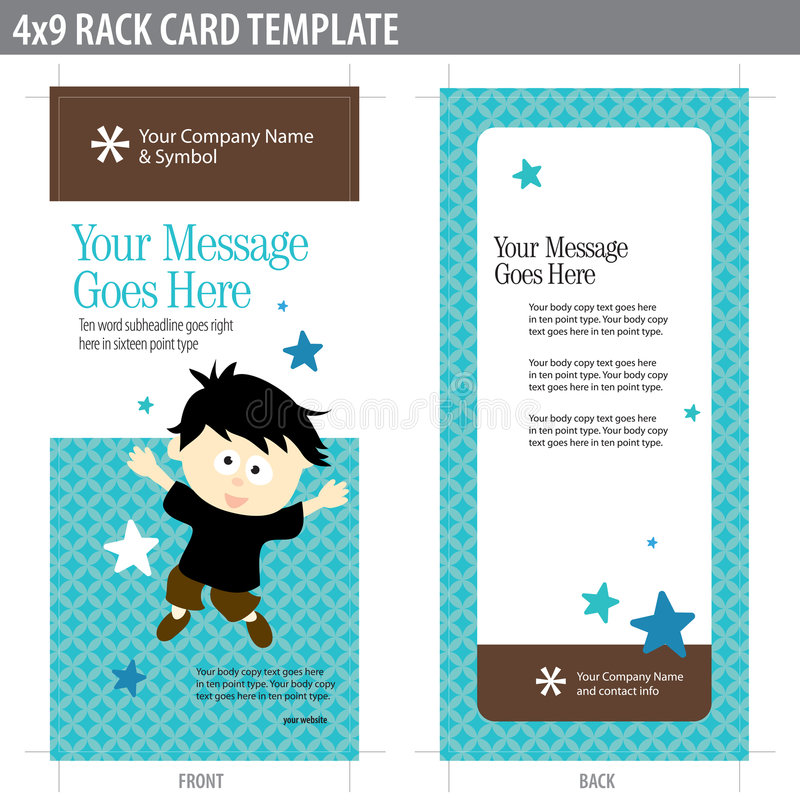X Rack Card Template Stock Vector Illustration Of Business