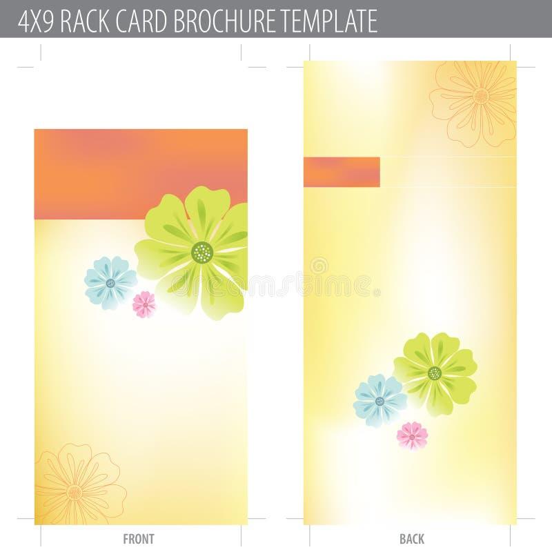 4x9 rek het Malplaatje van de Brochure van de Kaart vector illustratie